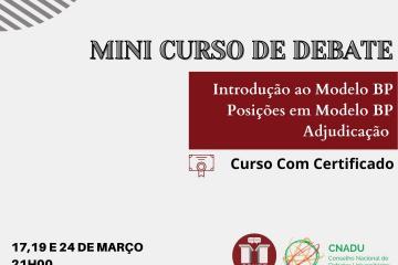 """""""Mini-Curso de Debate"""" SDUPT 2021"""